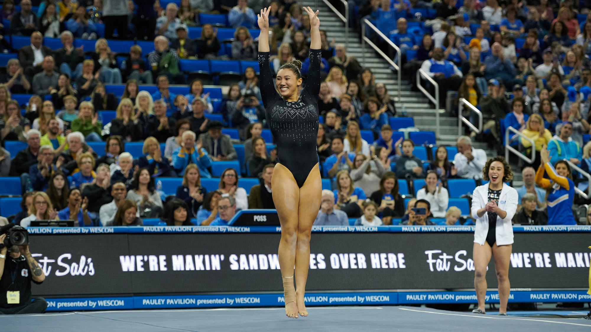 825ffdeb11 Kyla Ross, the clear co-MVP of UCLA's gymnastics team so far this season  along with Katelyn Ohashi (right), due to her back-to-back perfect tens on  vault ...